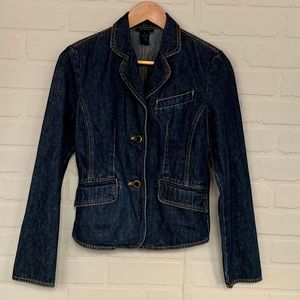 The Limited jacket jean denim dark blue wash